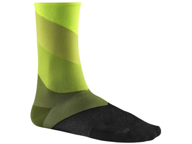Mavic Graphic Stripes Chaussettes, safety yellow/catus